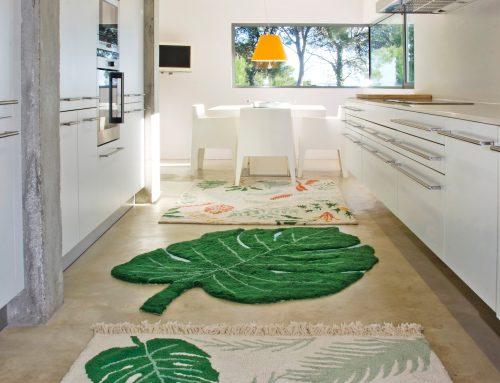 Wasbare 100 % katoenen handgemaakte vloerkleden